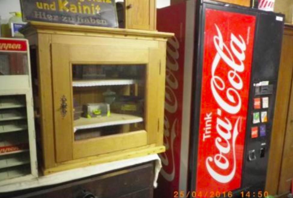 Alte Automaten: Kaugummiautomat, Cola, Knorr-Suppenautomat