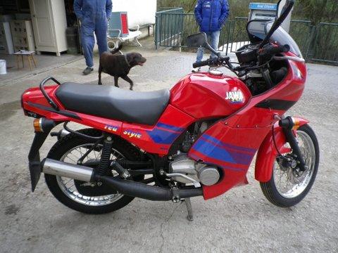 Motorrad Jawa 350Cm  Bj 1993 mit orig 1700KM  aus Museum